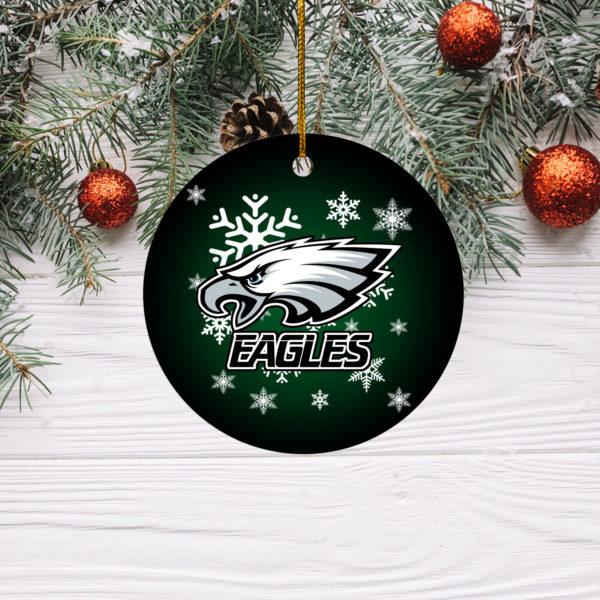 Philadelphia Eagles Merry Christmas Circle Ornament