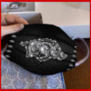 Arkansas Razorbacks glitter diamond cloth face mask reusable