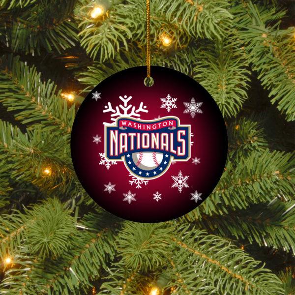 Washington Nationals Christmas Circle Ornament