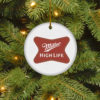 Miller High Life Merry Christmas Circle Ornament
