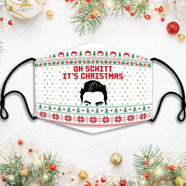 Schitts Creek Ugly Christmas Oh Schitt Face Mask