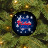 Philadelphia Phillies Merry Christmas Circle Ornament