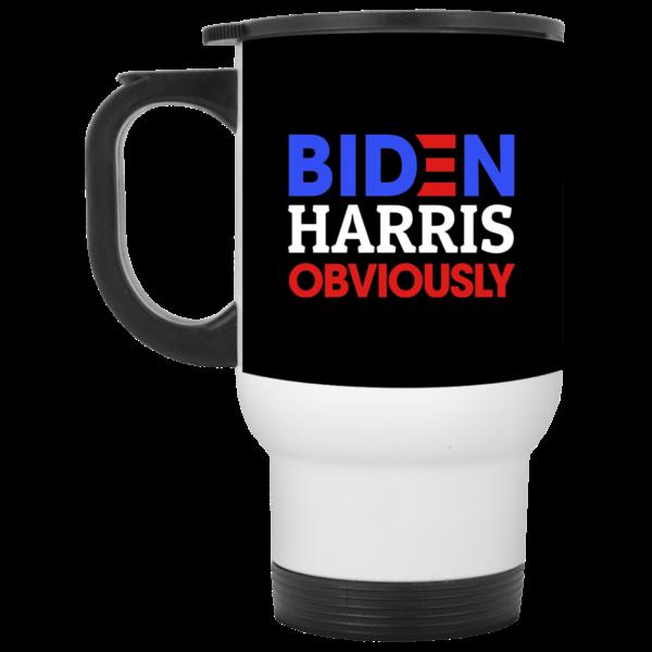 Biden Harris Obviously 2020 Democrat President Ceramic Coffee Mug Travel Mug Water Bottle