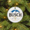 Busch Beer Merry Christmas Circle Ornament