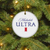 Michelob Ultra Merry Christmas Circle Ornament