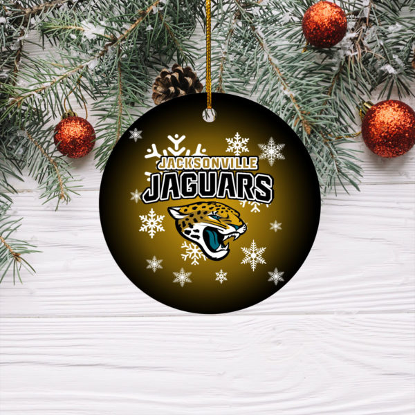 Jacksonville Jaguars Merry Christmas Circle Ornament