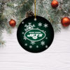 New York Jets Merry Christmas Circle Ornament