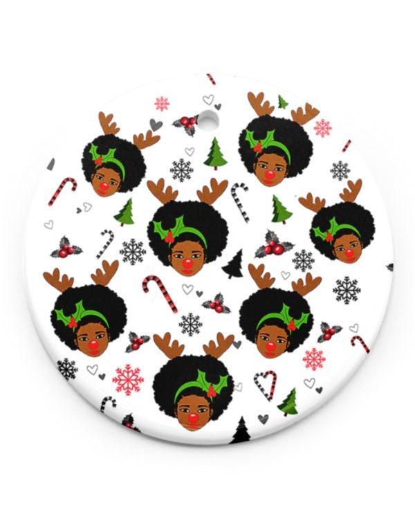 Black Women Christmas Ornament