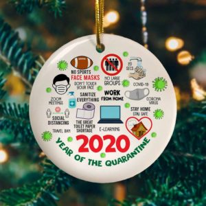 2020 Year of The Quarantine – Quarantine 2020 Christmas Decorative Ornament