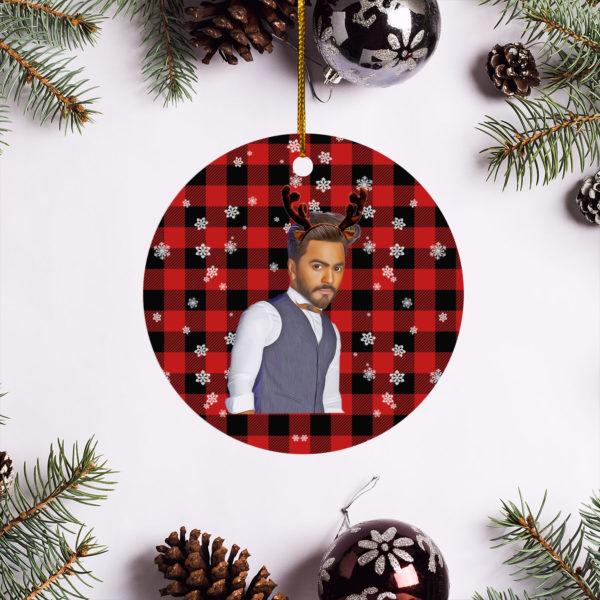 Tamer Hosny Merry Christmas Circle Ornament
