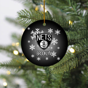 Brooklyn Nets Merry Christmas Circle Ornament