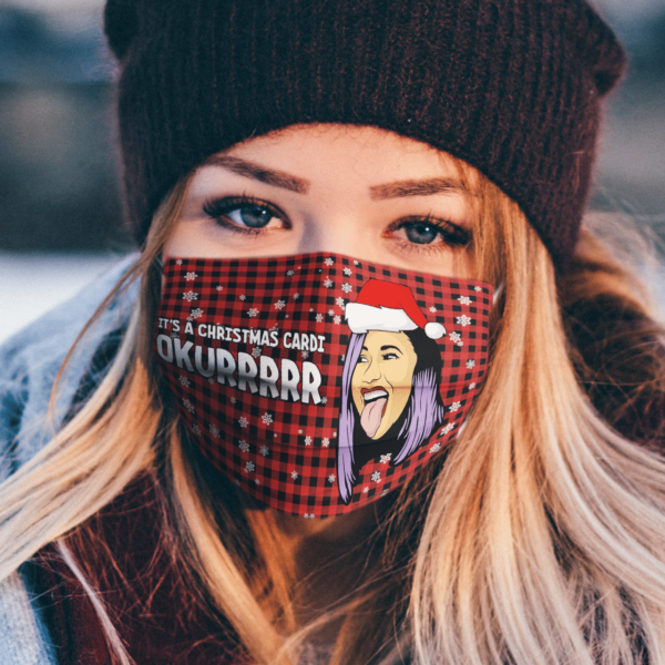 Cardi B It's A Christmas Cardi Ukurrrrr Face Mask