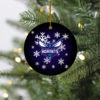 Charlotte Hornets Merry Christmas Circle Ornament