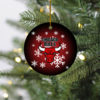 Chicago Bulls Merry Christmas Circle Ornament
