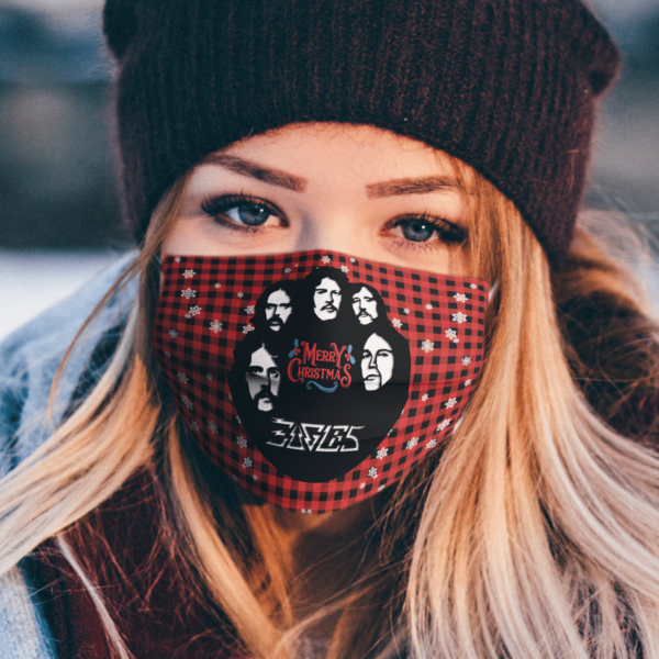 Eagles Band Merry Christmas Face Mask