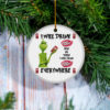 Grinch I Will Drink Dr Pepper Here And There Everywhere Christmas Ornament