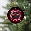 Houston Rockets Merry Christmas Circle Ornament