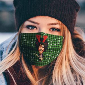 Jimi Hendrix Merry Christmas Face Mask