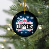 Los Angeles Clippers Merry Christmas Circle Ornament