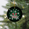 Milwaukee Bucks Merry Christmas Circle Ornament