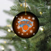 New York Knicks Merry Christmas Circle Ornament