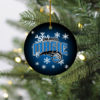 Orlando Magic Merry Christmas Circle Ornament