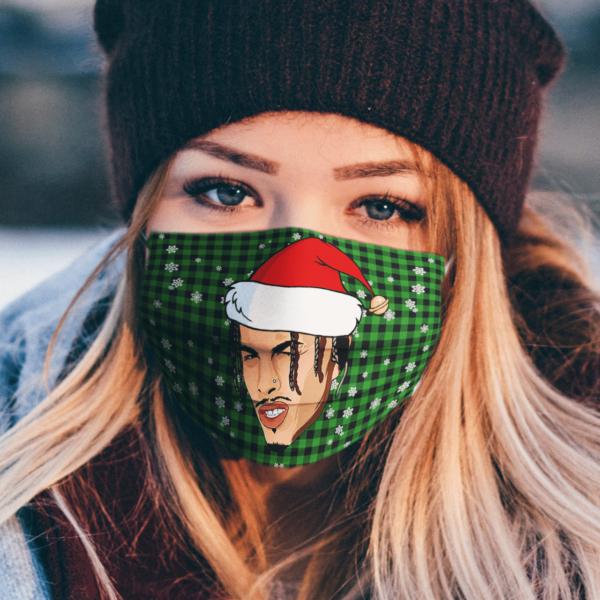 Rauw Alejandro Merry Christmas Face Mask