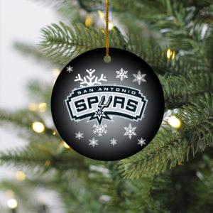 San Antonio Spurs Merry Christmas Circle Ornament