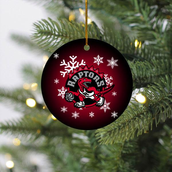 Toronto Raptors Merry Christmas Circle Ornament