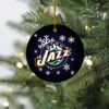 Utah Jazz Merry Christmas Circle Ornament