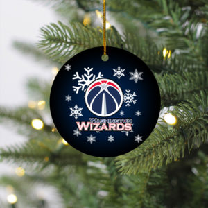 Washington Wizards Merry Christmas Circle Ornament