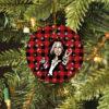 Steven Tyler Merry Christmas Circle Ornament