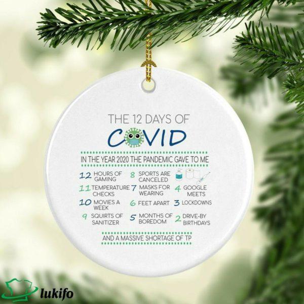 12 Days Of Corona 2020 Pandemic quarantine Christmas ornament