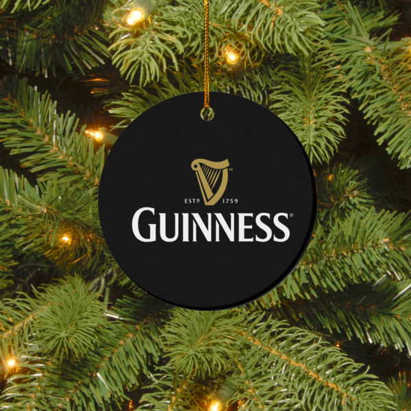 Guinness Merry Christmas Circle Ornament