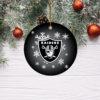 Las Vegas Raiders Merry Christmas Circle Ornament