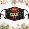 Nurse Claus Leopard Christmas Face Mask