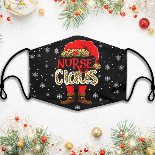 Nurse Claus Leopard Christmas Face Mask