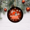 Cleveland Browns Christmas Merry Christmas Circle Ornament