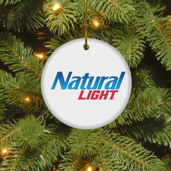 Natural Light Merry Christmas Circle Ornament