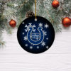 Indianapolis Colts Merry Christmas Circle Ornament