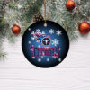 Tennessee Titans Merry Christmas Circle Ornament