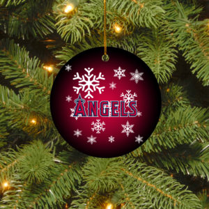 Los Angeles Angels Merry Christmas Circle Ornament