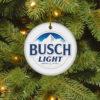Busch Light Merry Christmas Circle Ornament