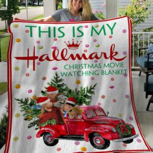 This Is My Hallmark Christmas Movies Watching Blanket Snoopy And Friends Fleece Blanket, Sherpa Blanket