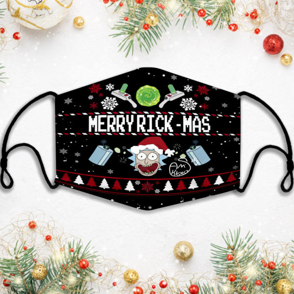 Rick And Morty Merry Rickmas Face Mask