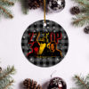 ZZ Top Merry Christmas Circle Ornament