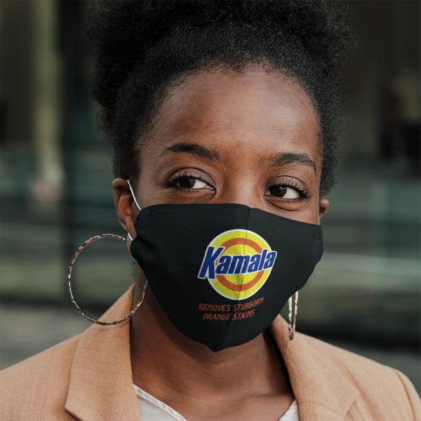 Kamala Harris 2020 Removes Stubborn Orange Stains Face Mask