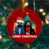 Biden Harris Merry Christmas Ornament