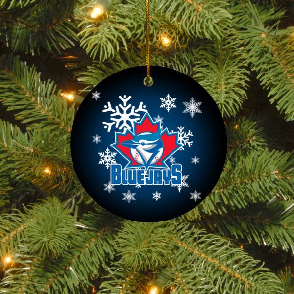 Toronto Blue Jays Merry Christmas Circle Ornament
