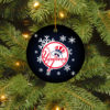New York Yankees Merry Christmas Circle Ornament